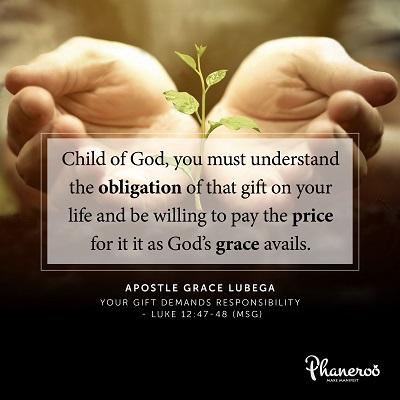 Phaneroo Devotion : Your Gift Demands Responsibility