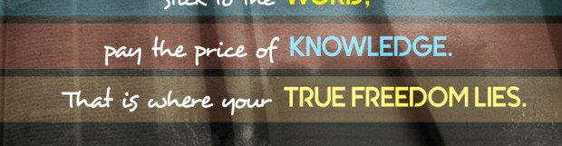 Pay The Price Of Knowledge